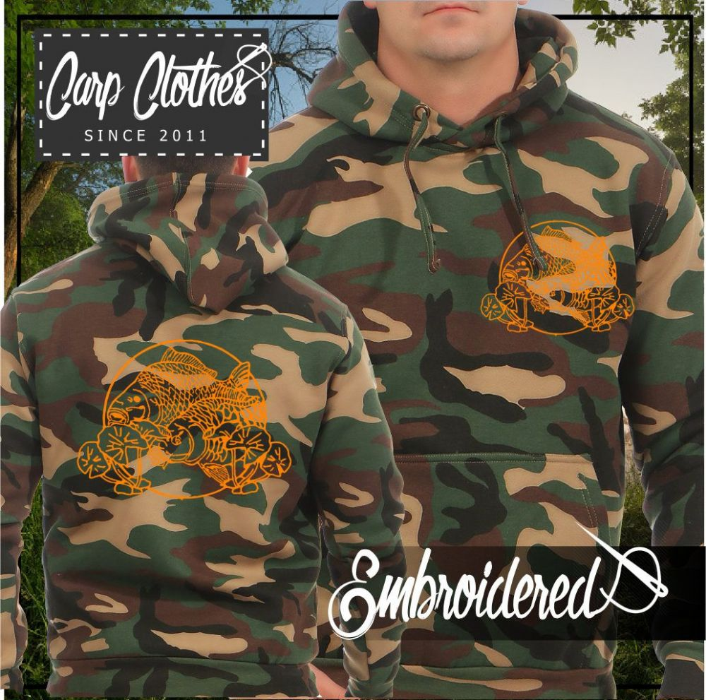 035 EMBROIDERED CAMO FISHING HOODIE